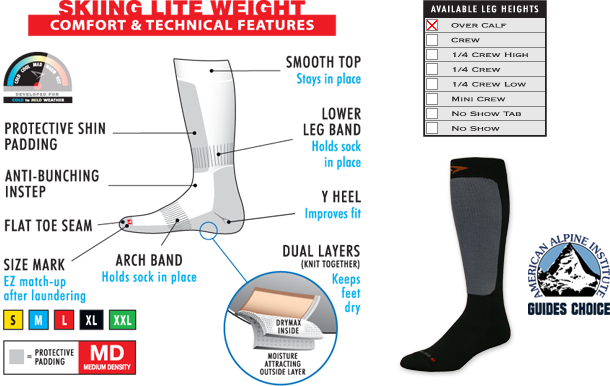 Comfort and Technical Features of Drymax Skiing Lite Weight Socks